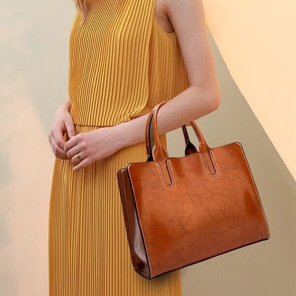 Yellow girl handbag