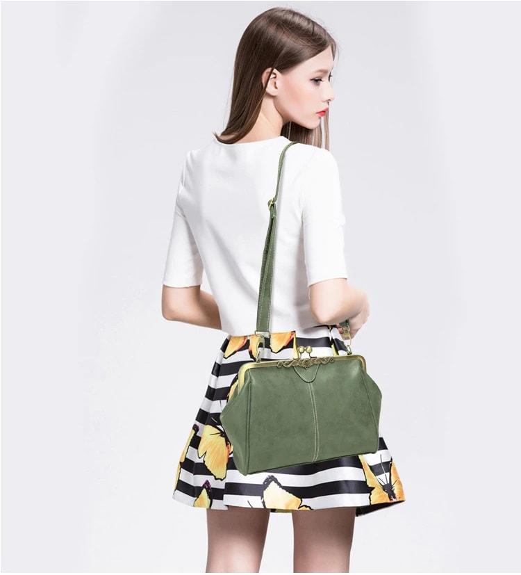 Girl with retro bag