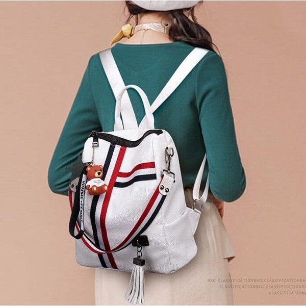 Backpack women white