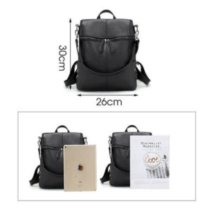 black backpack size