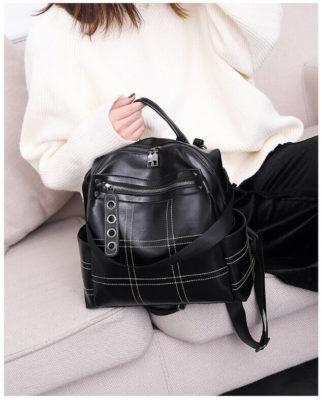 Pu leather girl