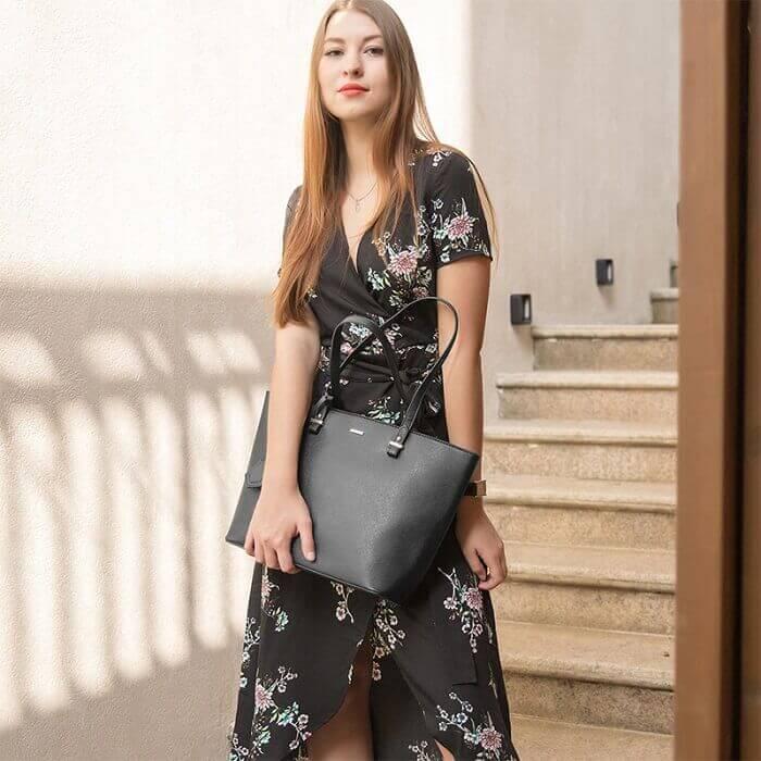 Girl black handbag