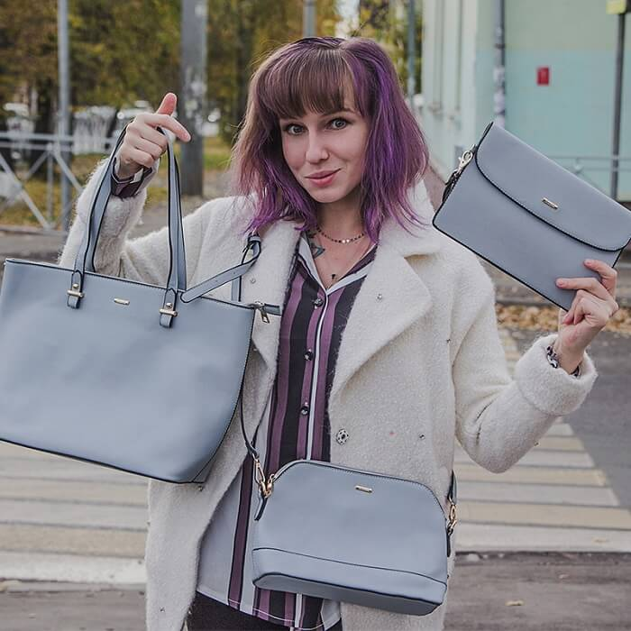 Girl with 3 bags