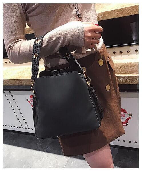 Girl black handbag