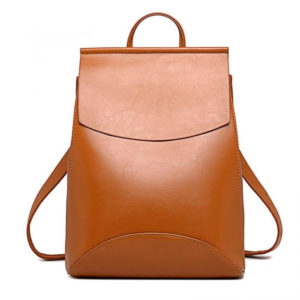 Brown leathr backpack