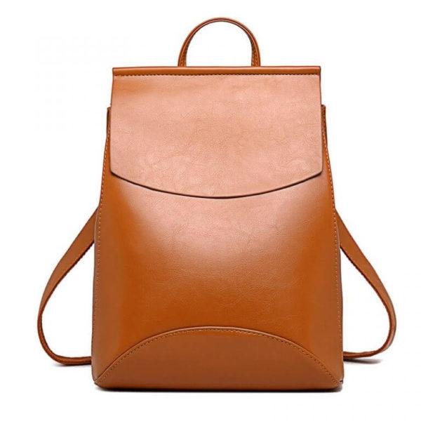 Brown leathr backpack