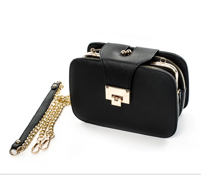 chain black bag