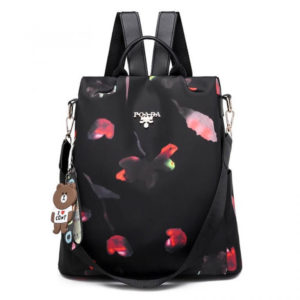 OxfordBackpack black flowers