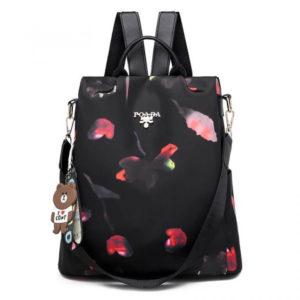 OxfordBackpack black flowers